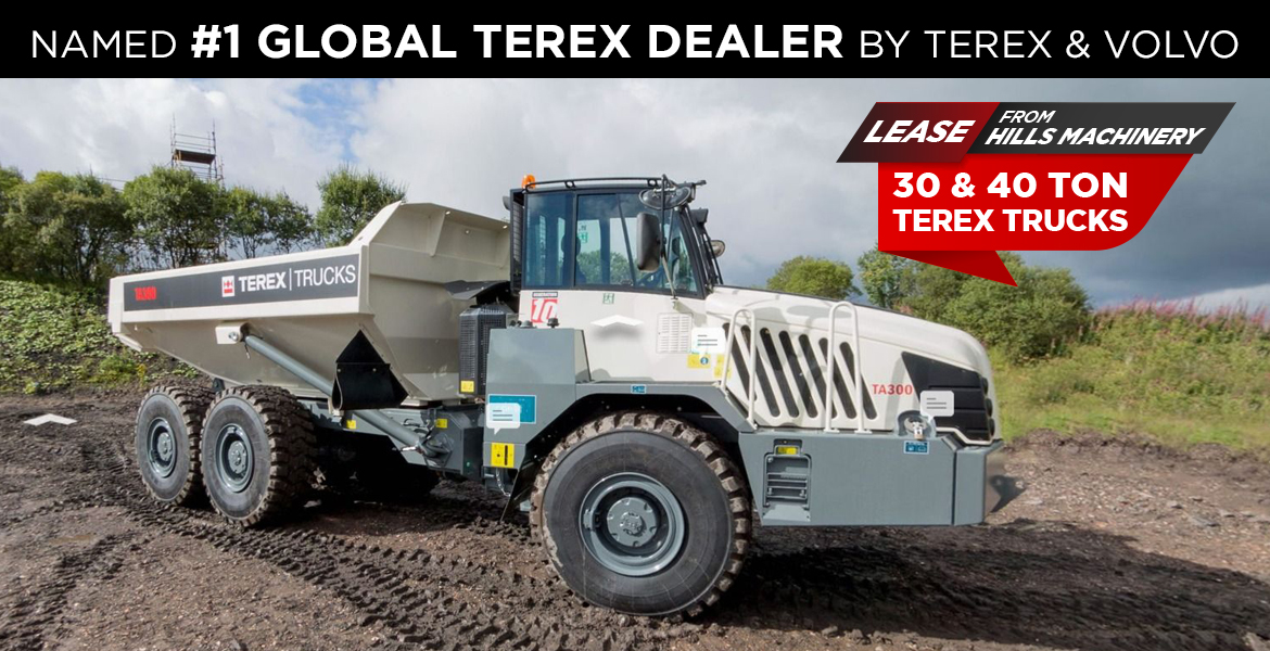 Lease a 30 Ton and 40 Ton Terex from Hills Machinery